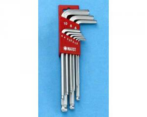 L型長球形六角扳手(Long Ball Point Hex Key Wrench Set)